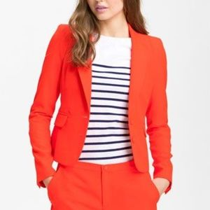 JUICY COUTURE Neon Red Blazer Jacket Size S